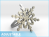 Snowflake Ring 2 d=19.5mm Adjustable h21d195a 3d printed