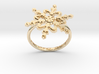 Snowflake Ring 2 d=17.5mm h21d175 3d printed