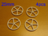 25mm wheels, 4pcs 3d printed 4pcs 25mm wheels