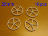 25mm wheels, 16pcs 3d printed 16pcs 25mm wheels
