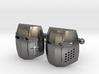 Knight Helmet Cufflinks 3d printed