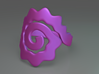 Spiral Ring 3d printed Spiral ring top (Purple)