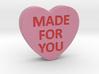 Conversation Heart 3D Valentine 3d printed