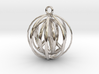 3D  Peace In A Protective Shield Pendant/Key Chain 3d printed