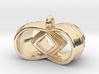 Tri-Infinity Diamond Pendant 3d printed