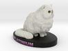 Custom Cat Figurine - Platinum 3d printed