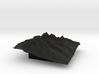3'' Grand Tetons Terrain Model, Wyoming, USA 3d printed