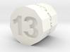 "d13 Hendecagonal Prism (""Unlucky Roller"") 3d printed"