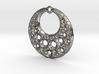 Fractal Pendant Crescent Moon 3d printed