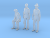 1:48 scale Figures 1 seated pippin 2 standing Fred 3d printed