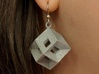 Tessellating Earring 3d printed a single earring made in polished metallic plastic. ear hook not included