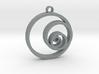 Fibonacci Circles Necklace 3d printed
