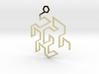 Gosper Pendant Single 3d printed
