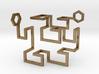Gosper Pendant 3D 3d printed