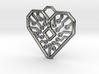 Heart Circuit Pendant 1 3d printed Circuit Heart Pendant