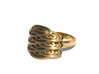 Japanese Fishscales Ring 3d printed Gold Plated Brass