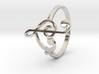 Size 10 Clefs Ring 3d printed