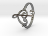Size 11 Clefs Ring 3d printed