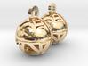 Craters of Iapetus Earrings 3d printed