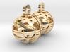 Craters of Phobos Earrings 3d printed