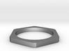 Plain Hexagon Stacking Ring  3d printed
