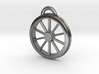 McKeen Motor Car Driver Wheel Necklace 3d printed