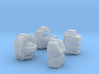 Mechanic and Magnawheeler Heads x2 3d printed