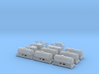 FEA-B Rail Head Treatment Train Three Wagon Set 3d printed