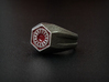 First Order Signet Ring (Size 10 1/4 - 20 mm) 3d printed Stainless Steel ring with red enamel paint applied. *The ring does not arrive painted!