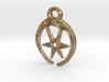Roman Moon & Star Pendant (large version) 3d printed