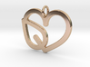Heart Leaf Pendant - Amour Collection 3d printed