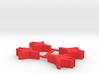 Game Piece, Calibration Confed Cruiser, 4-set 3d printed