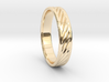 Hollow lines Ring 3d printed Gold 14K