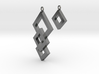 Three Squares Earrings - Asymmetrical 3d printed