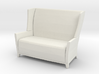 Aspen Wing Back Settee 1-24 3d printed
