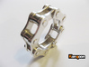 Violetta L. - Bicycle Chain Ring 3d printed Polished Silver printed in US 9  / for sale is US 9.5