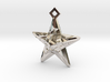 Stylised Sea Star Pendant 3d printed