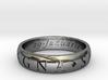 Size 13.5 Sir Francis Drake, Sic Parvis Magna Ring 3d printed