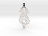 BlakOpal Victorian Flourish Earring 3d printed