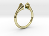 Gramaphonic Sharp Ring, US size 8, d=18 mm 3d printed