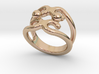 Two Bubbles Ring 33 - Italian Size 33 3d printed
