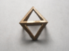 Faceted Minimal Octahedron Frame Pendant Small 3d printed Top side view.