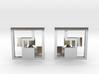 Tetromino Cufflinks 3d printed