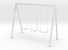 Swing set with rope seats 3d printed