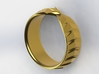 Ouroboros Signet Ring 3d printed Gold 1