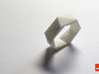Twist-ring (large) 3d printed In White Strong & Flexible