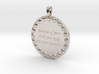Because Of Your Smile   Jewelry Quote Necklace. 3d printed