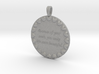 Because Of Your Smile | Jewelry Quote Necklace. 3d printed