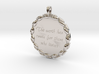 The Earth Has Music | Jewelry Quote Necklace. 3d printed