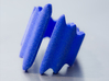 Waves Ring (Size 16) 3d printed Waves Ring - Royal Blue Strong & Flexible (Size 16)